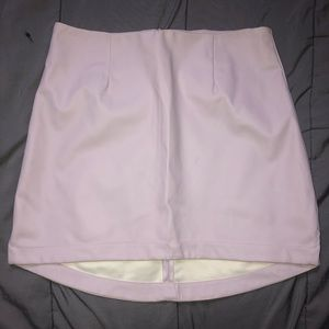 BCBG faux leather pink skirt